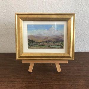 Original miniature Oil Painting of Arequipa, peru